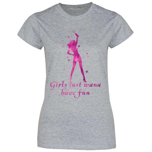 das Spaß hatTanzen Disko feiern Alkohol Damen T-Shirt Mädchen