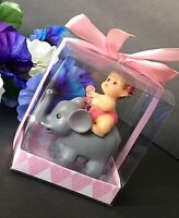 12-babyshower Baby Girl Elephant Animals Party Favors Recuerdos Decorations Pink