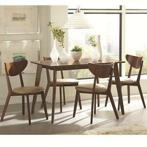 Image Is Loading Kersey 5 Piece Dining Set With Angled Legs