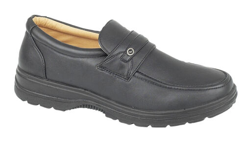Size 6 7 8 9 10 11 12 MENS Black Smart Work Apron Saddle Slip On Loafers Shoes