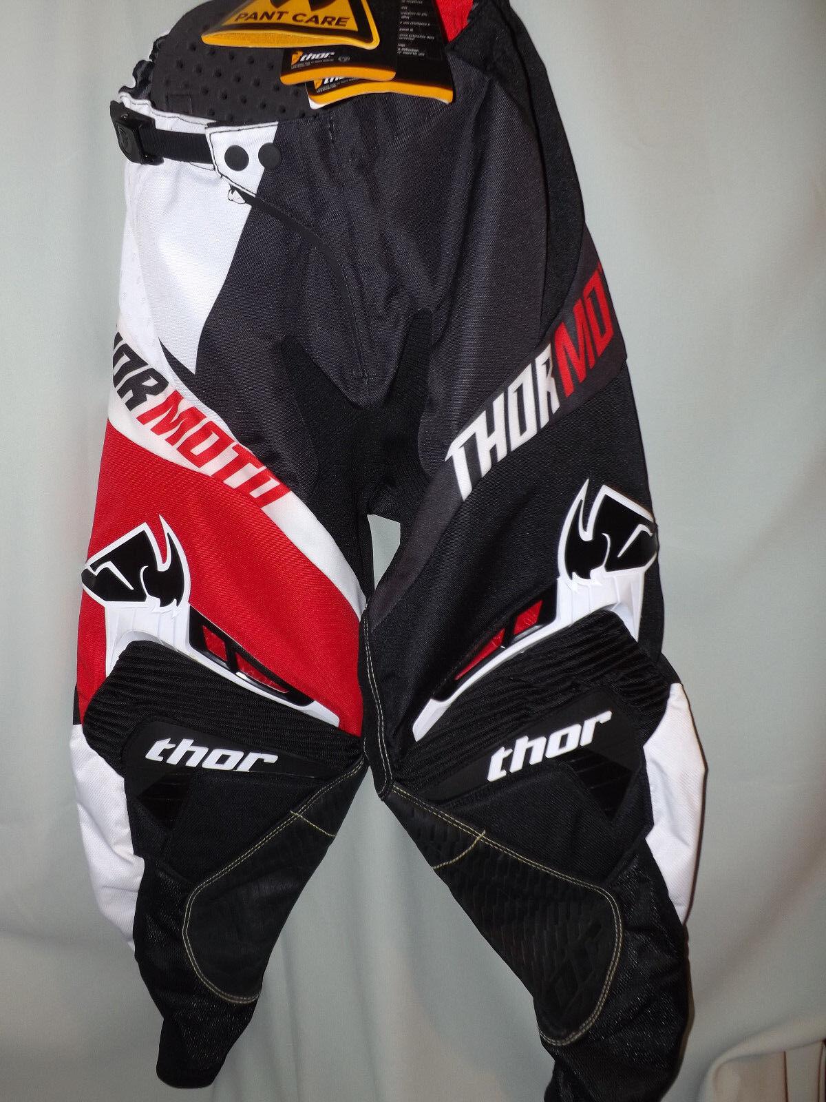 THOR MOTO Core Pantalones RAZOR RD  Adulto Tamaño 28 Negro Rojo blancoo Nuevo con etiquetas  Venta al por mayor barato y de alta calidad.