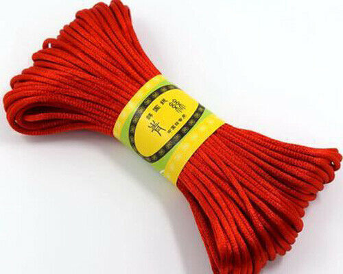 multicolor Chinese Knot Satin Nylon Hand catenary woven Chinese knot line 10M
