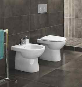 Sanitari bagno da appoggio filo parete a muro pozzi ginori serie selnova 3 ebay - Sanitari bagno filo muro ...