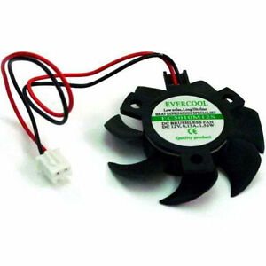 Evercool-EC5010M12S-B-50mm-x-10mm-Video-VGA-Cooling-Fan-2-pin-DC-12-Volt