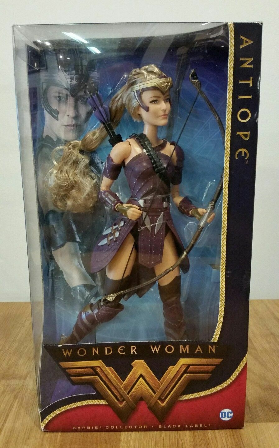 BARBIE WONDER donna COLLECTOR DOLL ANTIOPE nero LABEL DC COMICS DWD84