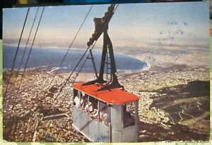 South-Africa-Cable-car-with-Cape-Town-and-Table-Bay-posted-1965