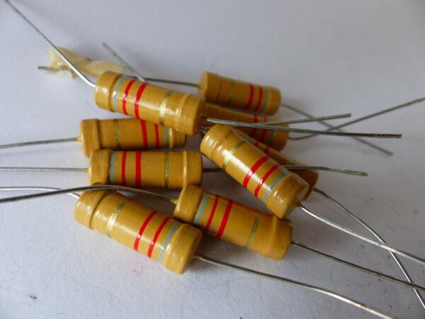 10x Kohleschicht- Widerstand Beyschlag 8200 Ohm, 8,2 Kohm 2w, F. Tube Amps, Nos