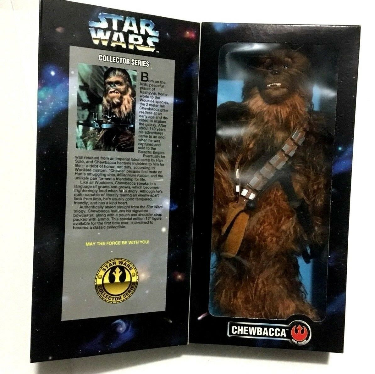 Signed by Peter Mayhew Star Wars Collector Series Chewbacca 12  Figure  27756