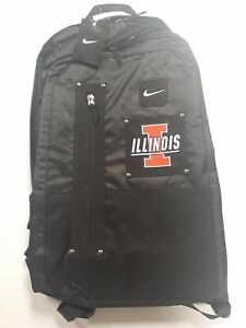 d2b7499d6c Image is loading Nike-Illinois-12-inch-Black-Laptop-Backpack-Book-