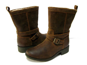 677ebef80b1 Details about UGG GLENDALE WOMEM SHORT BOOTS WATERPROOF LEATHER CHIPMUNK US  8 /UK 6 /EU 39