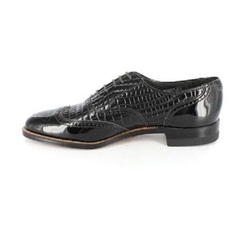 Stacy Adams Dayton Black Dress shoes Wing Tip Patent Leather Tuxedo 00267-01