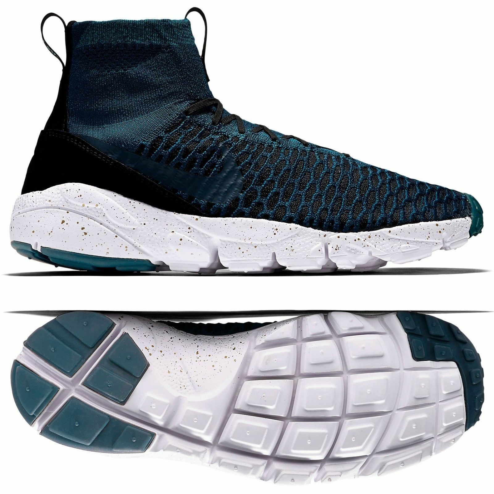 Sz 11 Nike Air Footscape Magista Flyknit FC 830600-300 Turquoise Training Shoes