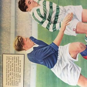 A1c-ephemera-1956-football-picture-billy-simpson-bobby-collins-rangers-celtic