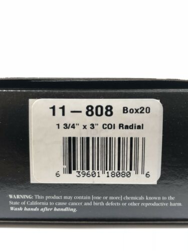 """Xtra Seal 11-808 Large 3/""""x1 3//4/"""" Rectangle COI Boot Radial Tire Patch *20PC"""
