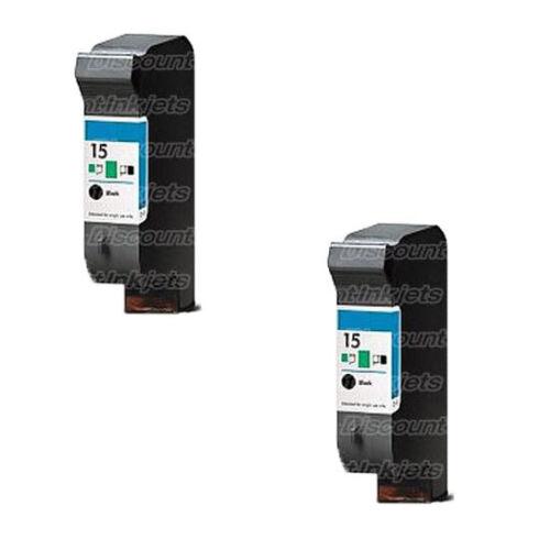 2 C6615A 15 Black Printer REMAN Ink Cartridge for HP Deskjet 840C