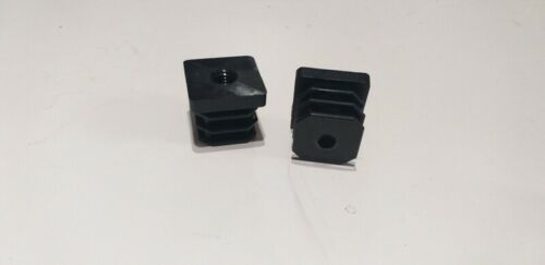 Black Square  Post End Caps Inserts Plugs with M8 M10 Thread