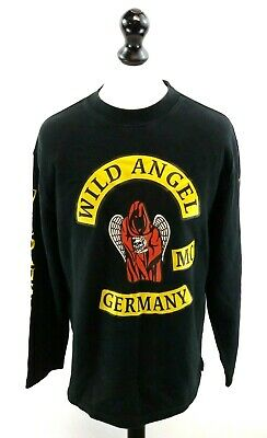 FäHig B&c Wild Angel Germany Mens Jumper Sweater Xl Black Cotton & Polyester