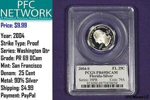 2004-S-FLORIDA-Silver-Quarter-Proof-PR-PF-69-Deep-Cameo-San-Francisco-Dcam-PCGS