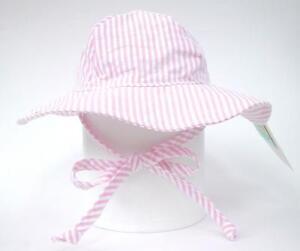 a53d40ebad2 Image is loading Flap-Happy-Girls-Floppy-Hat-Pink-Stripe-Kids-
