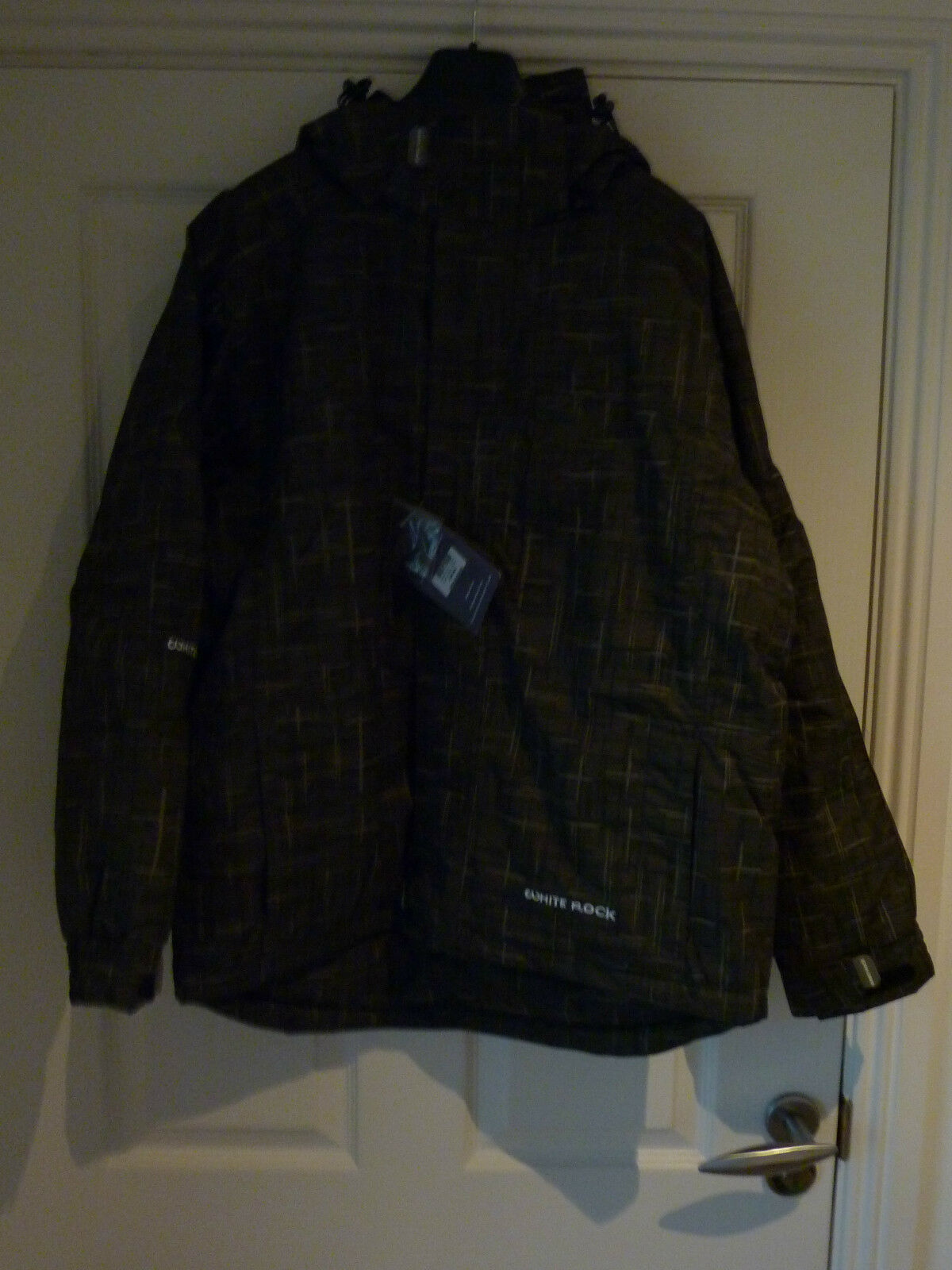 Gorgeous Olive Checked Axe Weiß ROCK Snow Gear Hooded Jacket NWT
