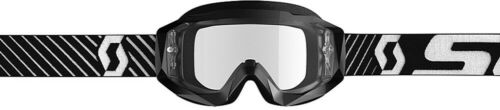 SCOTT USA HUSTLE X ADULT MOTOCROSS MX UTV GOGGLE BLACK CLEAR REPLACEABLE LENS