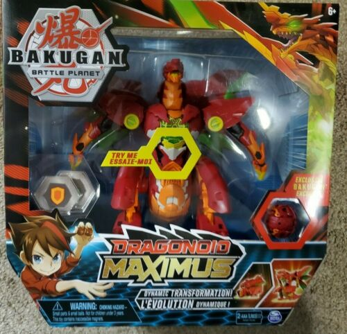 Bakugan Battle Planet Dragonoid Maximus Figure Free Shipping