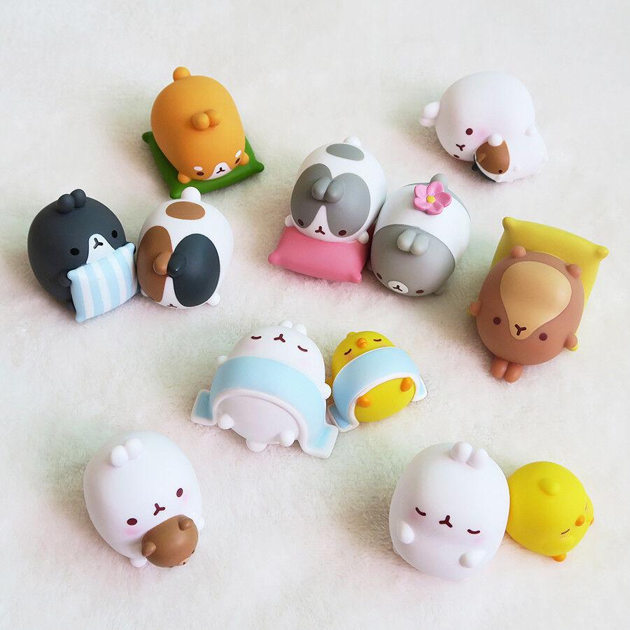 Cute rabbit Molang  Random mini figure Toys ver.3 ver.3 ver.3 sleeping mola 1BOX(12PCS SET) 2ba3fb