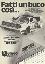 X9200 Lancia Stratos Alitalia bburago - Pubblicità 1977 - Advertising