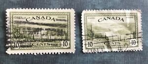 Great Bear Lake (2 Stamps) Canada Stamp Used:1946