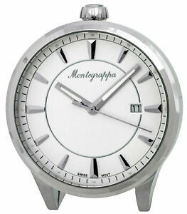 Montegrappa-Fortuna-White-Dial-Stainless-Steel-Quartz-Desk-Clock-IDFOTCIW