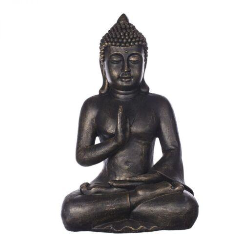 Deko Buddha Figur XL für Innen und Außen Buddha 56 cm hoch B4002 Bronze