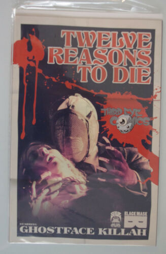 12 Reasons to Die #1 Third Eye Variant Cover Mint Condition GZA Ghostface