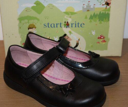 Start Rite Girls Maria Black Leather School Shoes Various Sizes BNIB