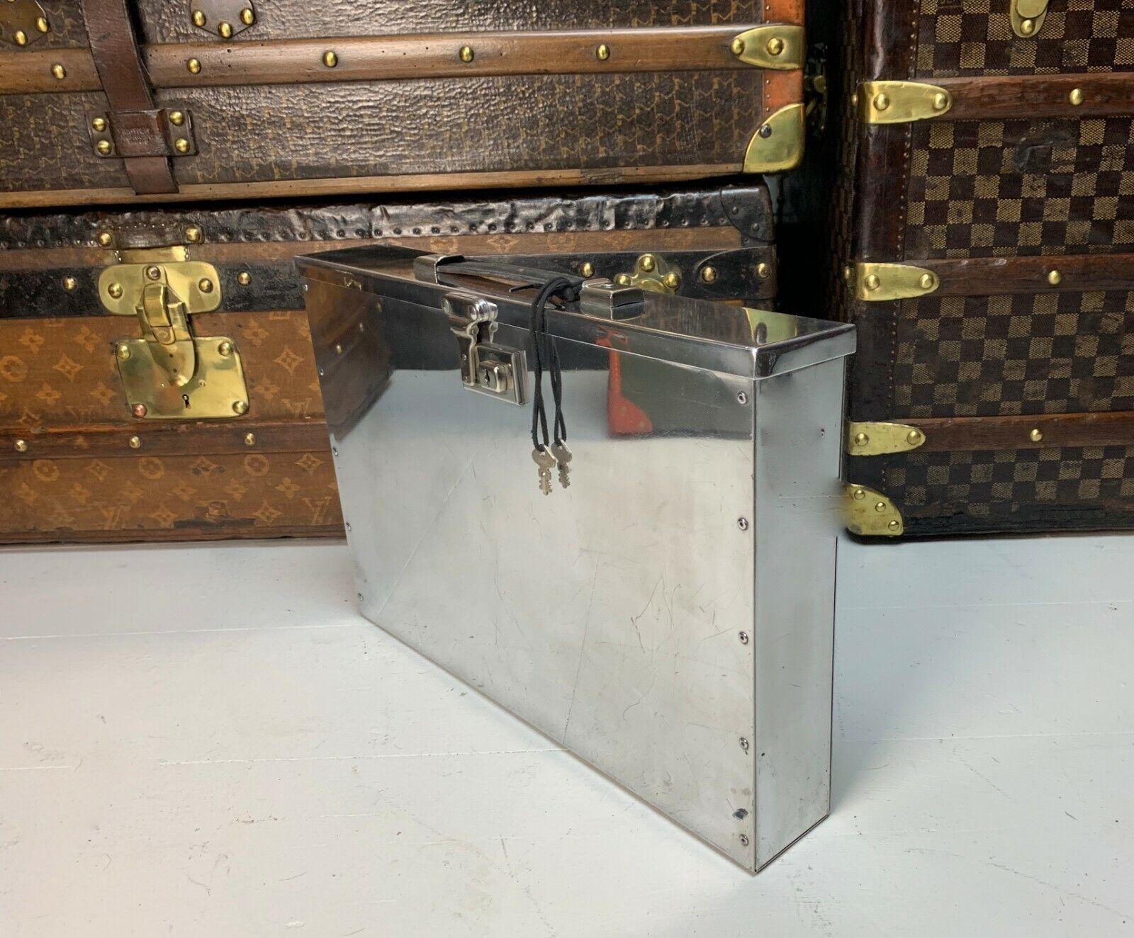 I dirigenti Vintage in alluminio lucidato ATTACHE VALIGETTA Ufficio Su Misura RARO
