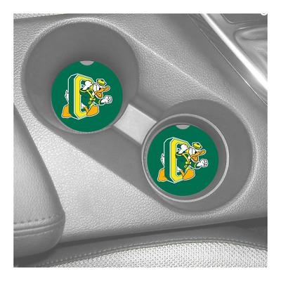 OREGON DUCKS SANDSTONE CAR COASTERS ABSORBS SET Pac-12 2