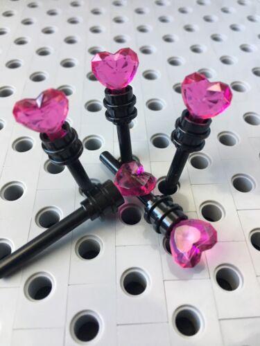 24pcs Lego Pink Heart Black Wand Minifigure Accessories New Lot Of 6