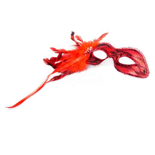 1920s The Great Gatsby Venetian Masquerade Mask for Women J-6936 Red