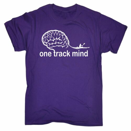 Men/'s One Track Mind Rowing Row Team Sport Water Paddle Canoe Kayak Boat T-SHIRT