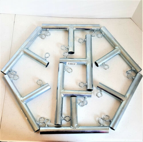 "~ 1 3//8/"" Pipe ** Free Shipping ** FVFT 3 way /""T/"" SHAPED CANOPY FITTING 8pc"