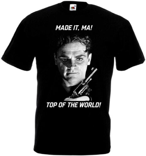Top of the World T-shirt black all sizes S...5XL Ma James Cagney Made It