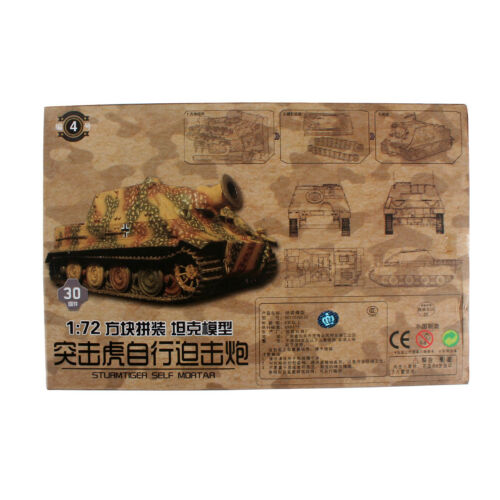 1:72 4D Modell Zweiter Weltkrieg 4 Stück Tank Militär Kollektionen Montieren