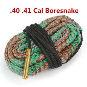 Gun Cleaning Kit For .40 /&.41 Cal Caliber Pistol Cleaning Bore Cleaner Snake