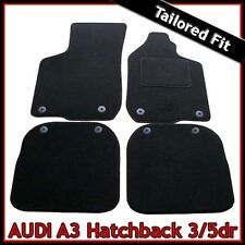 Audi A3 Mk1 1996-2003 Tailored Carpet Car Floor Mats BLACK