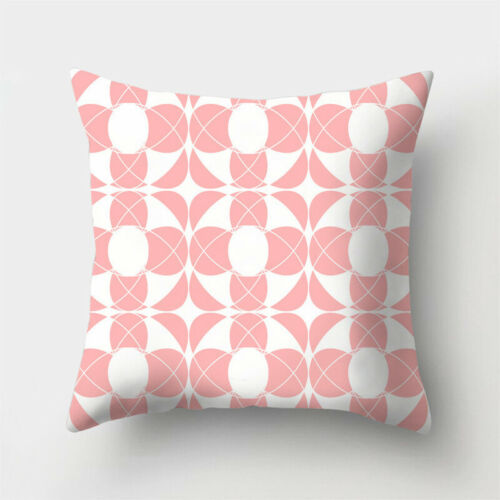 18inch Pink Pillowcase Polyester Throw Cushion Cover Waist Sofa Home Decor