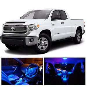 Led Blue Lights Interior License Package Kit For Toyota Tundra 2008 2015 Ebay