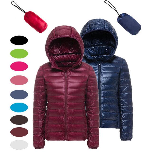 4cd032934 Women's Packable Winter Pockets Ultra Light Weight Short Duck Down Jacket  Coat X