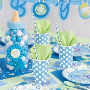 Baby Shower Boy Decoracion.Details About Baby Shower Boys Party Tableware Decoration Supplies Boy Napkins Plate Cup