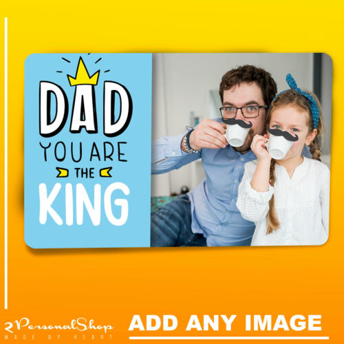 Personalised Fathers Day Gifts Fro Dad Photo Wallet Card Metal Insert for Wallet