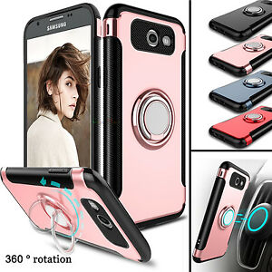 For-Samsung-Galaxy-J3-Emerge-Prime-2017-Hybrid-Hard-Armor-Ring-Stand-Case-Cover