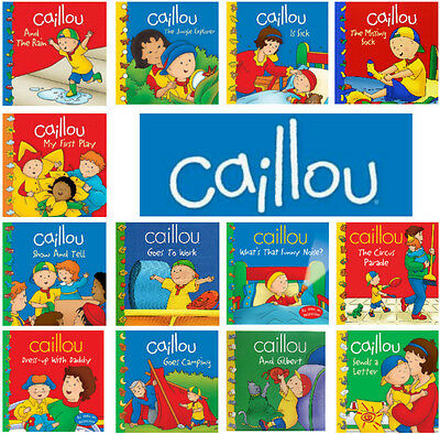 CAILLOU 13 Bks Dress-Up,Funny Noise,Circus Parade,Gilbert,Goes to Work +  NEW | eBay